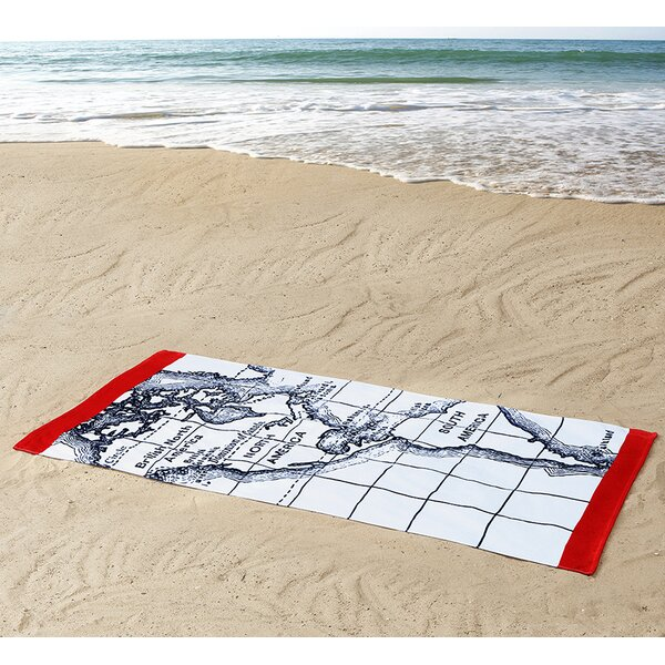 Seedling by Thomas Paul Map 100% Cotton Beach Towel by Seedling by ThomasPaul